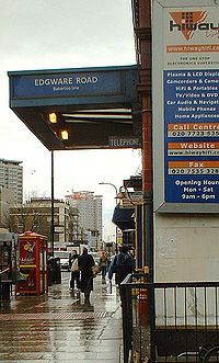 Acceso a la Línea Bakerloo, en Edgware Road