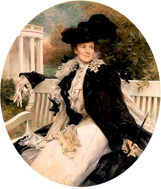 Théobald Chartran - Image: Edith Roosevelt Official Portrait