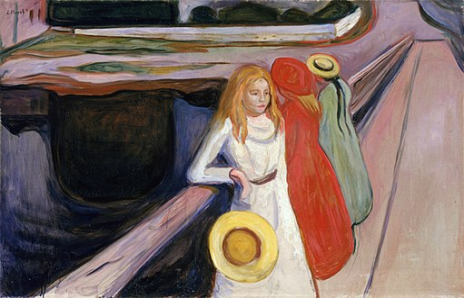Edvard Munch - The Girls on the Bridge, Hamburger Kunsthalle (1901)