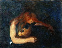 Edvard Munch - Vampire (1893), Munchmuseet.jpg
