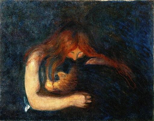Edvard Munch - Vampire (1893), Munchmuseet