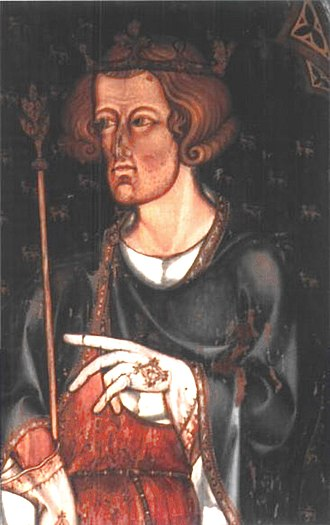 Edward I of England - Portrait in Westminster Abbey, thought to be of Edward I