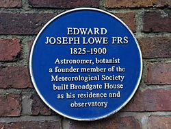 Edward joseph lowe plaque
