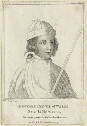 Edward of Westminster, Prince of Wales - An 18th-century engraving of Edward.