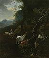 Een herderin met vee in een bergachtig landschap Rijksmuseum SK-A-1976.jpeg