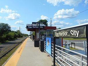 Egg Harbor City, New Jersey - Egg Harbor City station, which is served by NJ Transit's Atlantic City Line