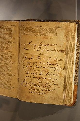 Mary Jones and her Bible - Mary Jones' Bible