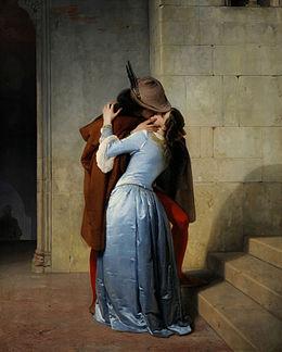 El Beso (Pinacoteca de Brera, Milán, 1859).jpg