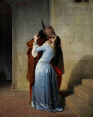 The Kiss (Klimt) - The Kiss, Francesco Hayez, 1859