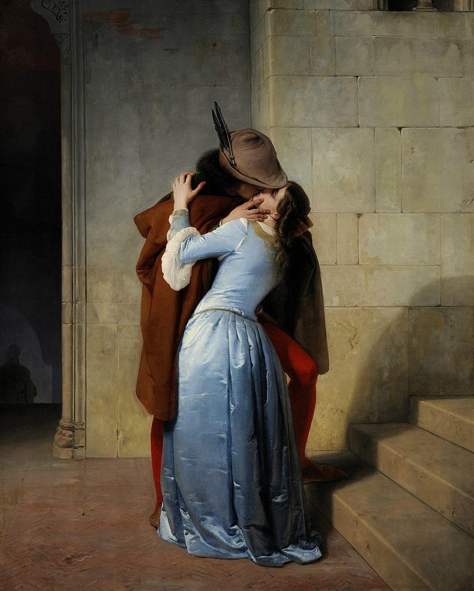 El Beso (Pinacoteca de Brera, Milán, 1859)