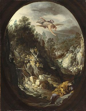 The dream of Saint Joseph to flee to Egypt