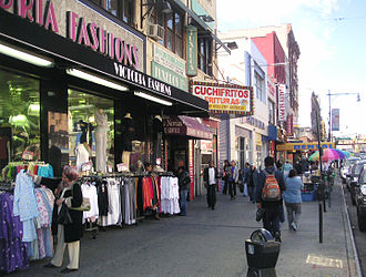 East Harlem - Storefronts at Lexington Avenue and 116th Street