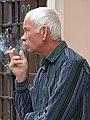 Elderly Man Smoking - Lviv - Ukraine (27177188685) (2).jpg