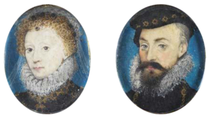 Prince Tudor theory - Image: Elizabeth and Leicester miniatures by Hilliard