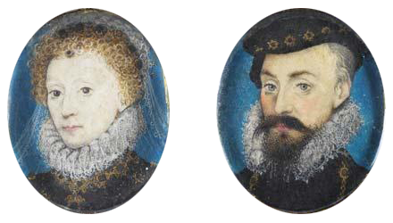 Elizabeth and Leicester miniatures by Hilliard