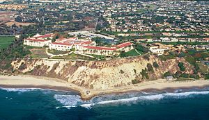 Beach evolution - Southern California beach 10/97 (before winter storms boosted by El Niño)