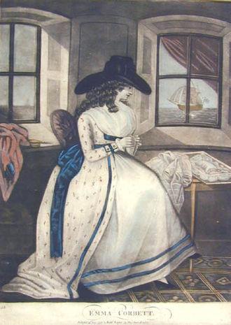 """Samuel Jackson Pratt - Illustration from a 1788 edition of """"Emma Corbett"""""""