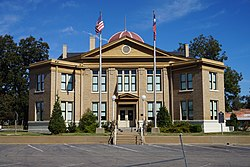 The Rains County Courthouse in Emory