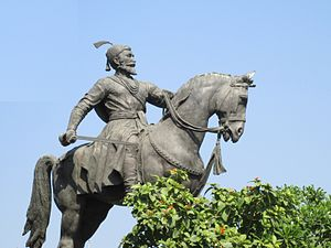 Culture of Maharashtra - Statue of Shivaji The Great opposite to Gateway of India in South Mumbai.