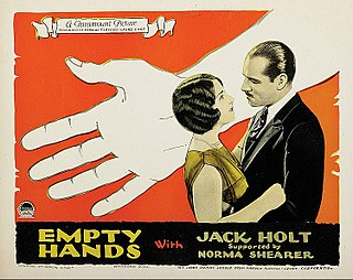 <i>Empty Hands</i> 1924 film by Victor Fleming