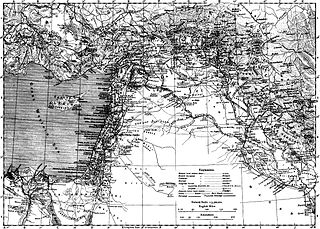Encyclopaedia Biblica map of Syria, Mesopotamia, Babylonia, and Assyria