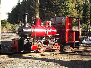 Irish Steam Preservation Society - BNM No 2/LM44, currently in service on the Stradbally Woodland Railway