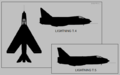 English Electric Lightning T.4 and T.5 two-view silhouette.png
