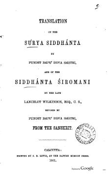 English translation of the Surya Siddhanta and the Siddhanta Siromani by Sastri, 1861.djvu