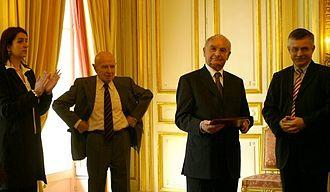 Austrian Holocaust Memorial Award - Reception at the Austrian Embassy in Paris (March 2008)
