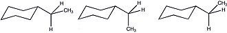 A value - Possible equatorial conformations of ethyl cyclohexane.