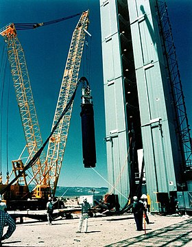 Equipment being lowered for Operation Julin, 1992.jpg
