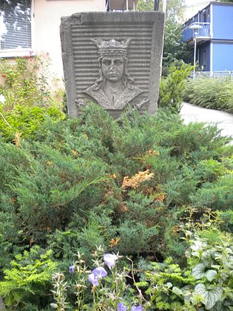 Eric IX of Sweden - One of the many images of Saint Eric in Stockholm as the city's symbolic patron.