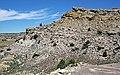 Ericson Sandstone over Rock Springs Formation (eroded edge of Zirkel Mesa, east of Superior, Wyoming, USA) (21230745165).jpg