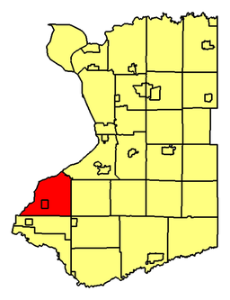 Location of Evans in Erie County