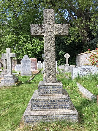 Ernest Mason Satow - The grave of Sir Ernest Mason Satow in the churchyard of Ottery St Mary
