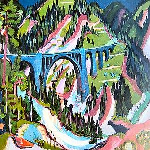 1926 in art - Image: Ernst Ludwig Kirchner Brücke bei Wiesen