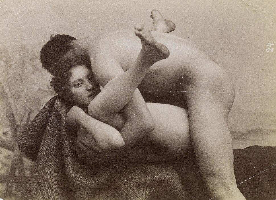 Erotische Aufnahme c1880s