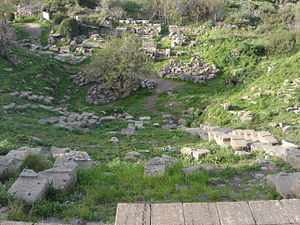 Erythrae - Ruins of the theatre at Erythrae