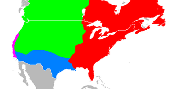 English: Approximate extent of the states in t...
