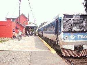 Materfer - Light railcar (Pitufo) in Garín.