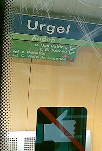 Estación de Urgel (metro de Madrid).JPG