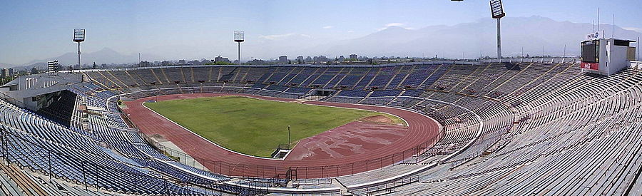 Panoramic view of the Chilean National Stadium