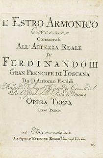 <i>Lestro armonico</i> violin concerto