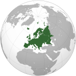 Europe (orthographic projection)