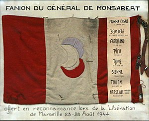 Joseph de Goislard de Monsabert - Personal flag of Monsabert, 3rd Algerian Infantry Division