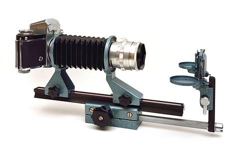 Exakta Varex with bellows and slide copier
