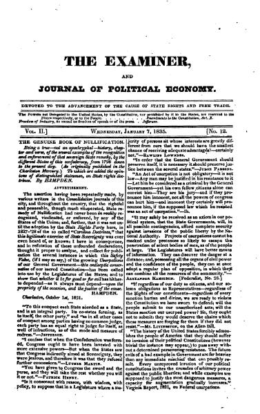 File:Examiner, Journal of Political Economy, v2n12.djvu