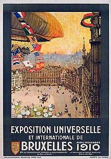 Brussels International 1910 word fair held in Brussels, Belgium in 1910