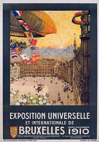 Brussels International 1910 - Poster for the World Fair of 1910 in Brussels