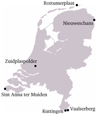 Extreme points of the European part of the Netherlands